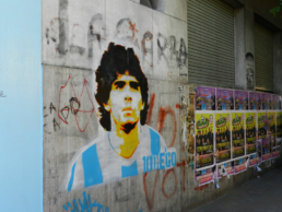 Maradona paintings - Boca
