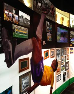 Pelé pic at the Conmebol museum