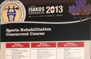 Sports Rehab Course 2013